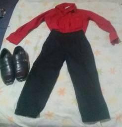 Calça,camisa social e sapato