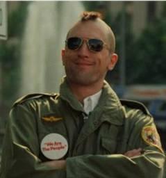 "Jogo de Patches importado + botton. Filme ""Taxi Driver"""