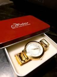 Relógio dourado Condor feminino