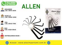 Chave Allen Kit com 6 Peças 1,5mm a 6mm Brasfort Xave Alen