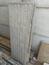 Placas cimento muro pré-moldado