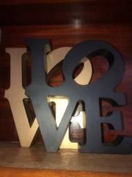 Palavra Love decorativo