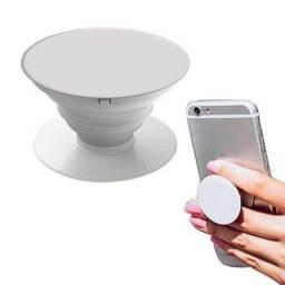 Pop socket para celular com suporte - branco