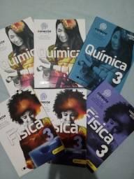 Livros Tópicos de Física 3 e Química 3 Editora Conecte