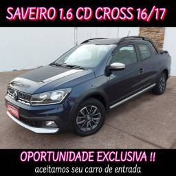 Título do anúncio: SAVEIRO CROSS CD 16/17! avaliamos troca.