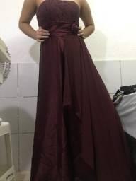 Vestido formal vinho