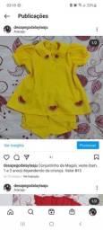 Roupinhas da Magali para criança de 2 anos