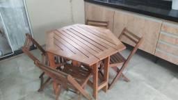 Título do anúncio: Mesa dobrável mais cadeiras Tok&Stok