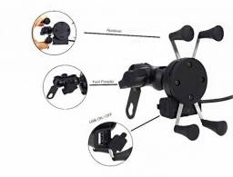 Suporte celular moto com carregador//entrega grátis jppb
