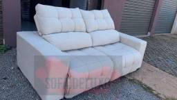 Sofá retrátil e reclinável sobre encomenda parcelamos em até 10 x