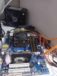 Kit placa mãe processador memória placa de video