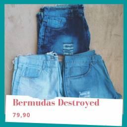Bermuda Jeans Destroyed
