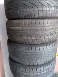 Título do anúncio: Torro jogo de pneus 235 55 17  pneus meia vida  bons ACEITO PIX