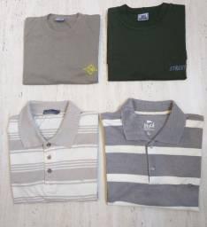 Lote 4 Camisetas Masculinas