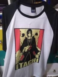Camisetas Naruto e Itachi