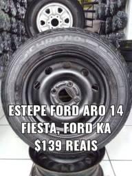 Roda aro 14 para estepe Ford. Disk entrega
