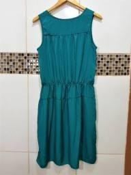 Vestido Verde Com Tecido Brilhoso Yessica