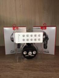 Transmissor Fm Veicular KCB-906 Carregador USB Mp3 Com Bluetooth Micro Sd
