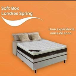 Título do anúncio: CAMA CASAL BOX MOLAS LUXO alta 1.245,00 ATÉ 6X SEM JUROS! ENTREGA IMEDIATA!