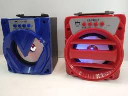 Caixa de som completa com bluetooth radio pendrave 18 centímetros