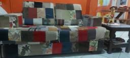 Sofa artesanal de 2 lugares 1,50cm estado de novo.