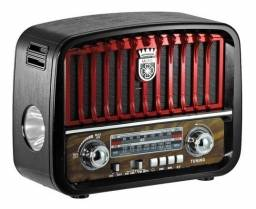 Radio Retrô Am Fm Entrada Usb Cartão Sd