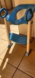 Assento Redutor com Escada Trono Infantil Vaso Sanitário Azul
