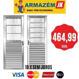 Porta de alumínio 80x210 promoção 464,99