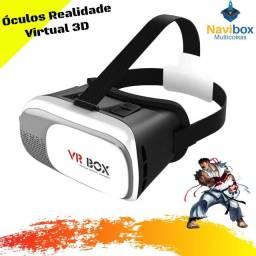 Óculos de Realidade Virtual VR 3D 360 Graus Box com Controle