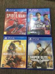 Jogos PS4 mídia física