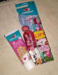 Kit Higiene Bucal Infantil Feminino