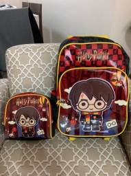 Mochila rodinhas e lancheira Harry Potter