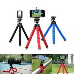 Mini Tripé Universal Flexível Suporte Celular Câmeras Regulável Universal