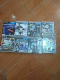 PS3 câmera 2 controle o fone gamer e 8 jogos