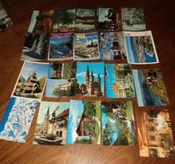 Jogo 260 Cartões Postais Europa e mais
