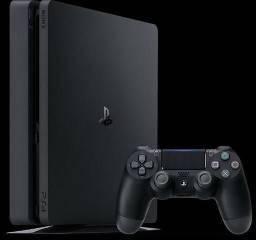 PS 4 Slim 500Gb - C/ 3 jogos + 3 meses de PSPlus [2 meses de uso, c/ nota e garantia]