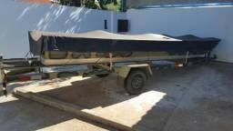 Vendo conjunto Barco + Motor de Popa + Reboque