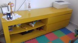 Móvel rack amarelo lindo