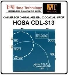 Conversor Digital Hosa CDL-313 sem Pdif Coaxial Rca x Aes / ebu. Somos importadores Hosa
