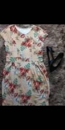 Vestido curto estampa moderna ( EXG) V'leny moda plus size