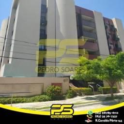 Título do anúncio: Apartamento com 3 dormitórios para alugar, 78 m² por R$ 2.800,00/mês - Cabo Branco - João