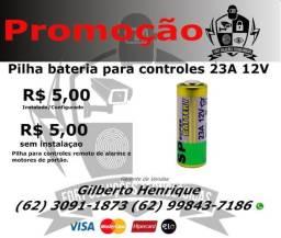 Pilha/Bateria para controle de alarmes