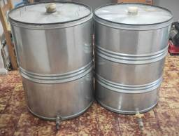 Fermentadores em aço inoxidável de 250 litros