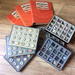 Coleção Completa Tesouros da Terra - Minerais e Pedras Preciosas Editora globo - Anos 90