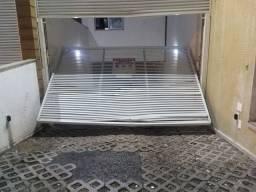 Portão aluminio branco para garagem
