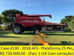 Case 4130 - Ano 2018 AFS - Plataforma 25 Pés, Máquina Extra barracão - (Parcela 1+5X)