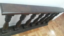 Balaustre de madeira antigo igreja