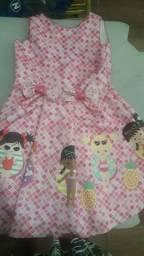 Vestido infantil princesinha moda verão