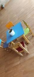 Mesa com cadeiras infantil MADEIRA