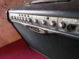 """Amplificador de guitarra, Line6 spider II, 2 falantes de 10"""" celestion, 120w"""